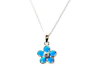 Child's Turquoise Flower Necklace