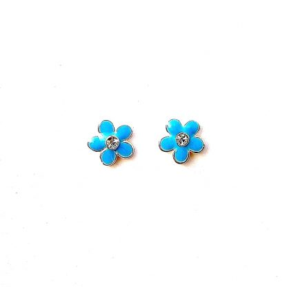 Child's Turquoise Flower Studs