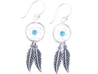 Dainty Dreamcatcher Earrings.