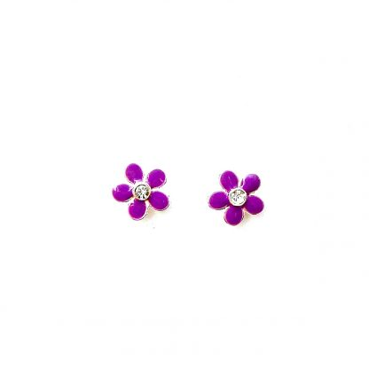 Child's Purple Flower Studs