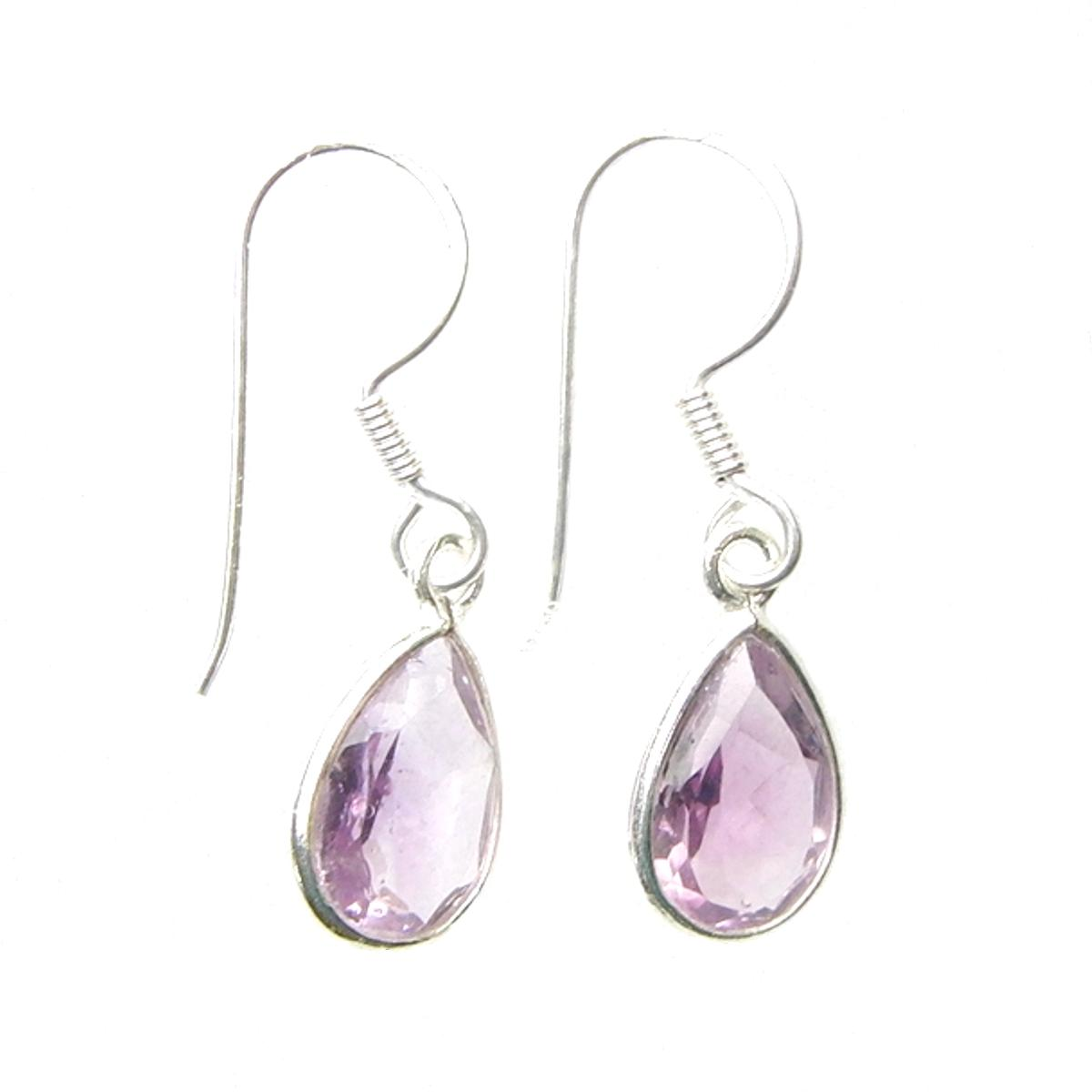 Amethyst Faceted Earrings.