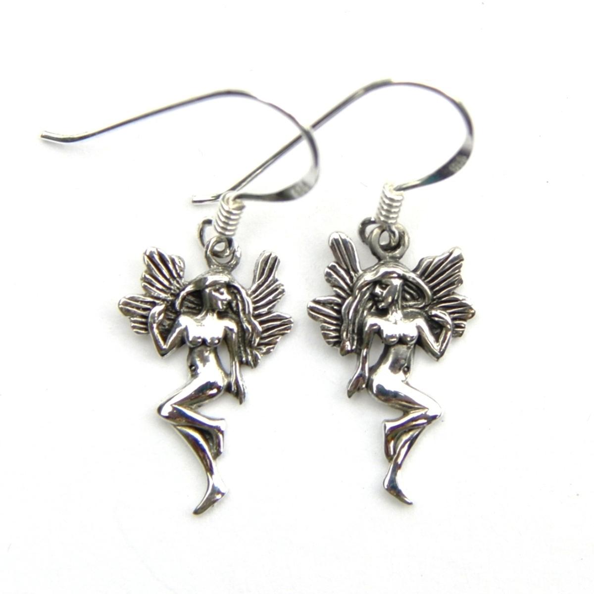 Pretty Fairy Silver Earrings
