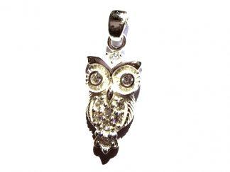 Stunning Crystal Owl Pendant