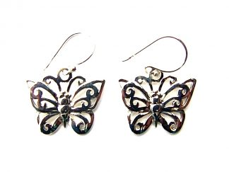 Lovely Large Butterfly Earrings.