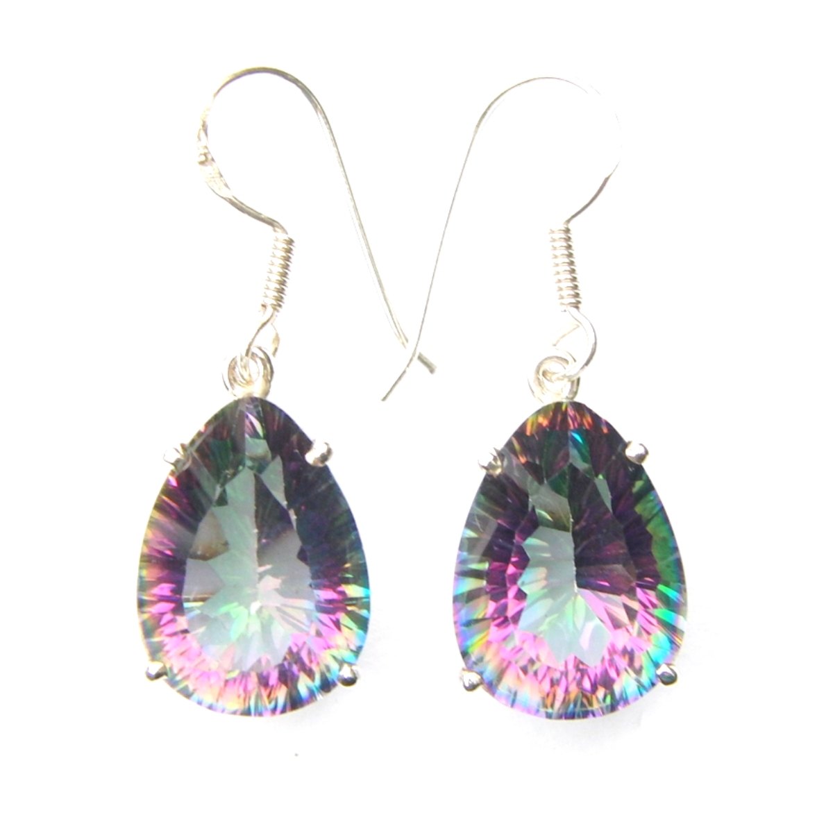 Mystic Topaz Large Earrings.