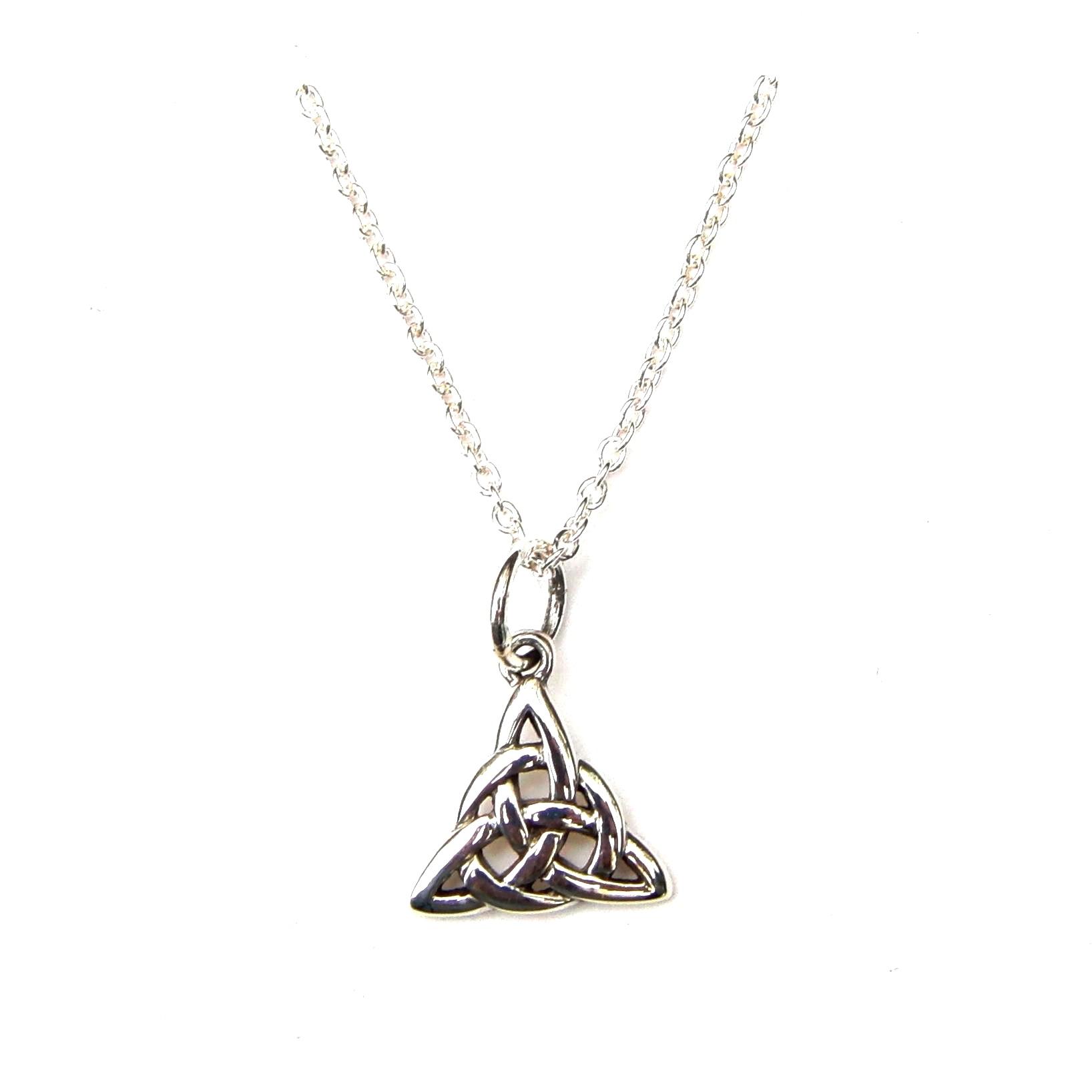 Pretty Triple Triquetra Necklace