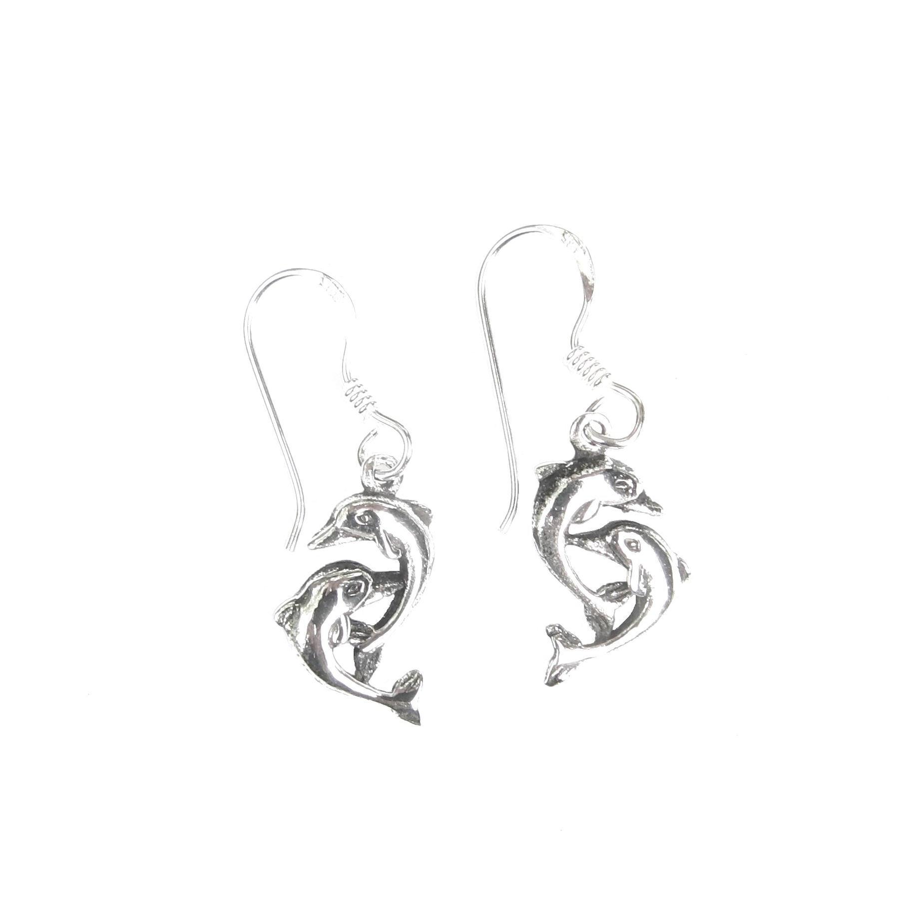 Lovely Double Dolphin Earrings.