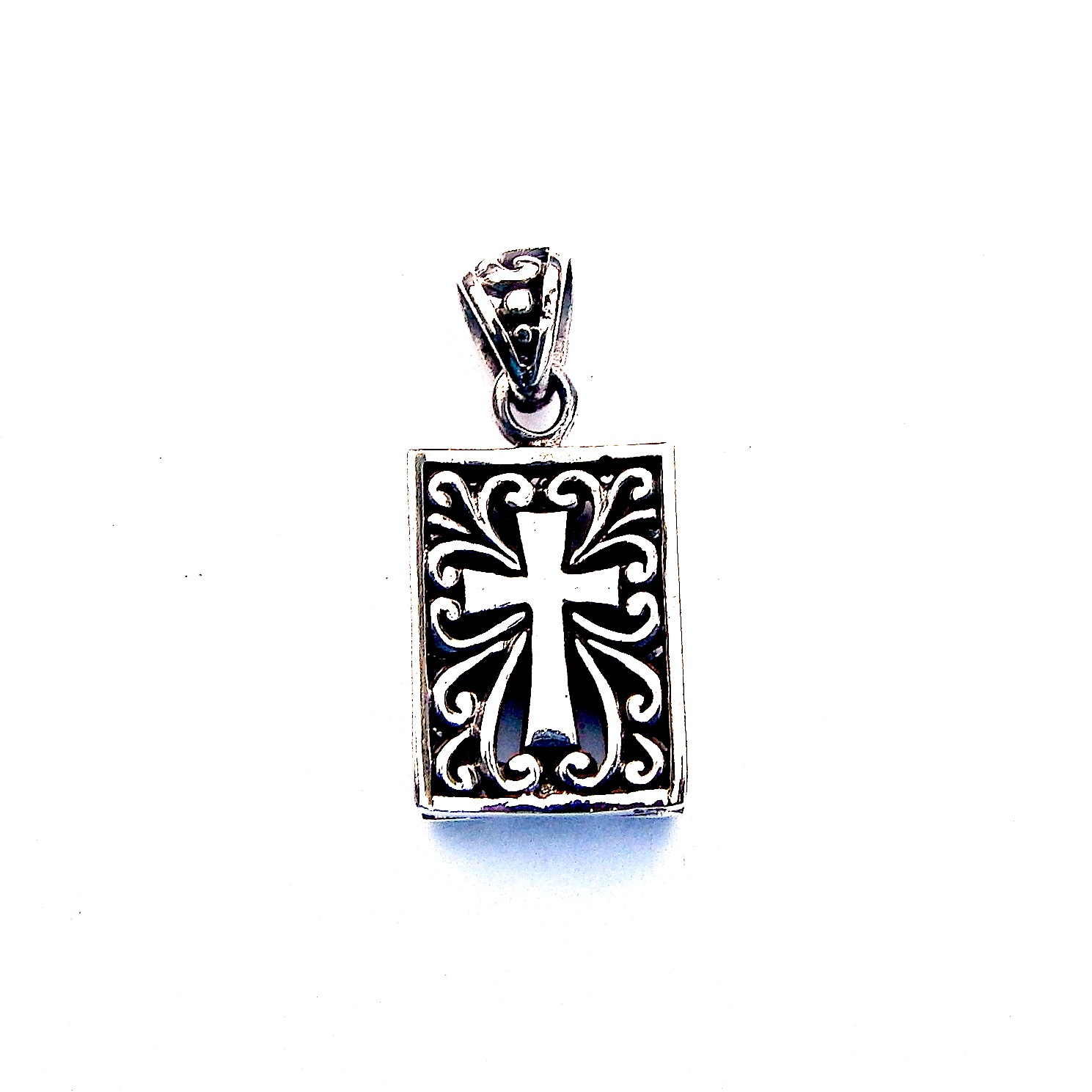 Lovely Heavier Weight Decorative Cross Pendant