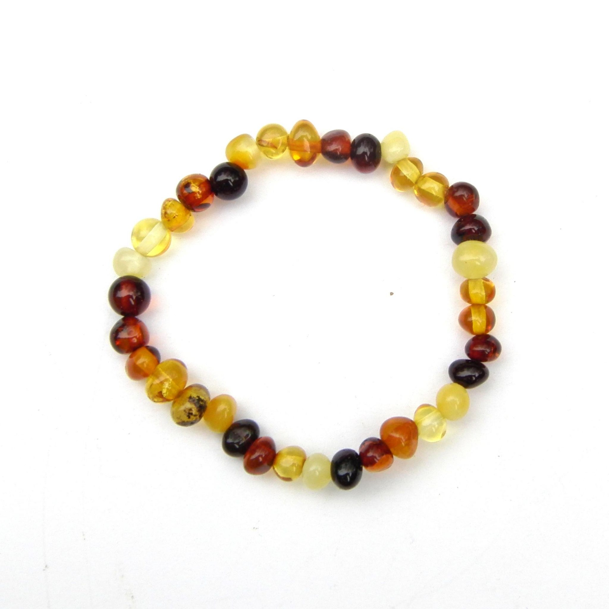 Beautiful Mixed Amber Child's Beaded Bracelet
