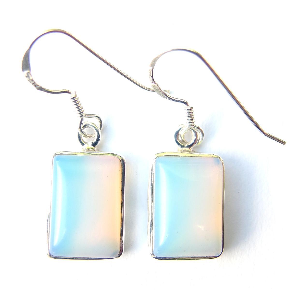 Opalite Large Rectangular Earrings.