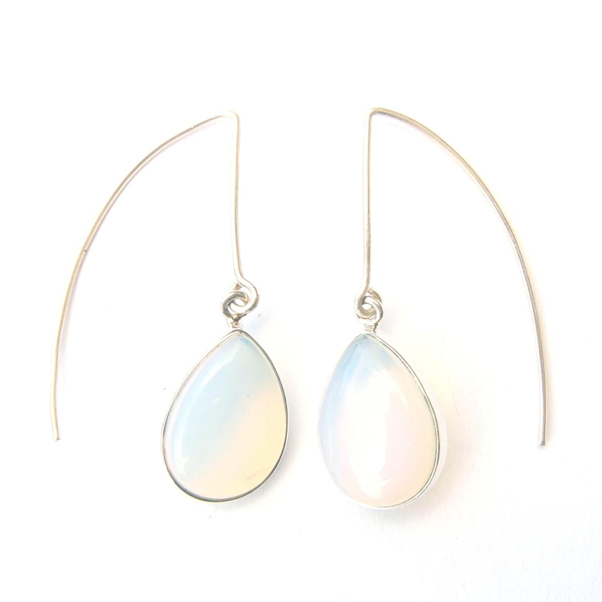 Opalite Long Hook Earrings