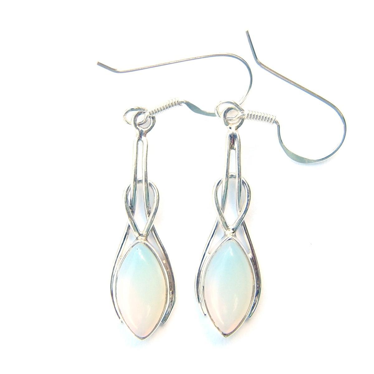 Opalite Marquise Knot Earrings