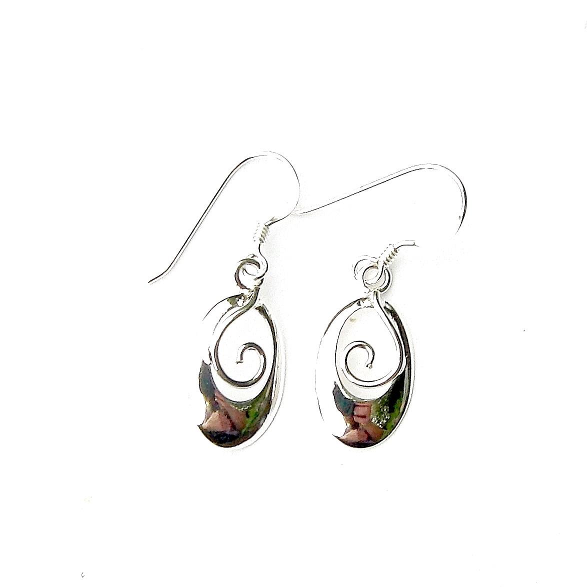 Beautiful Oval Swirl Earrings.