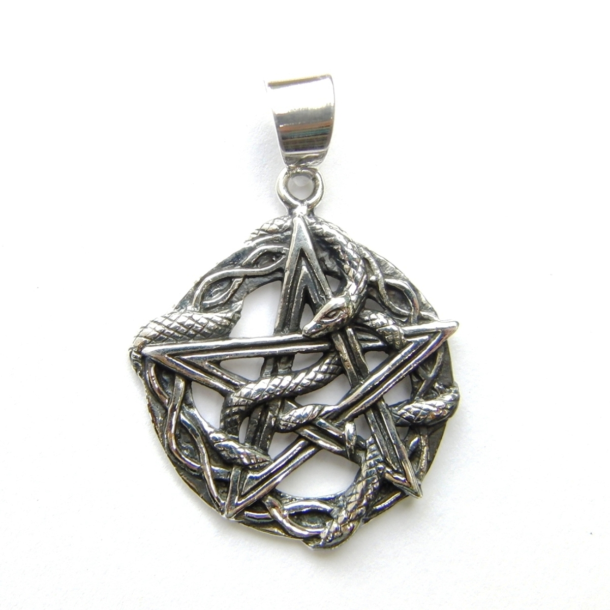 Lovely Snake Pentagram Pendant