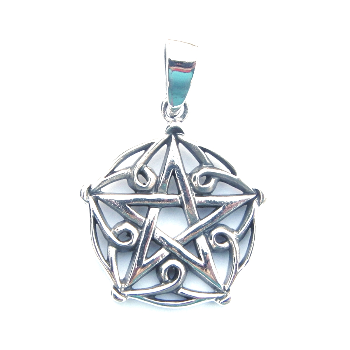 Pretty Patterned Pentagram Pendant.