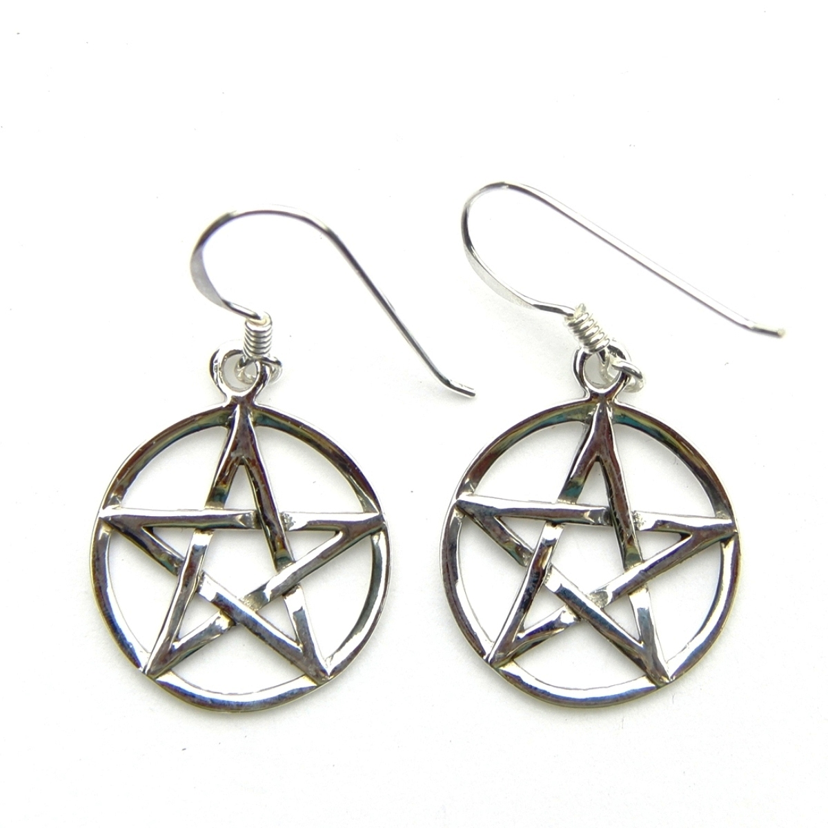 Large Pentagram Earrings.