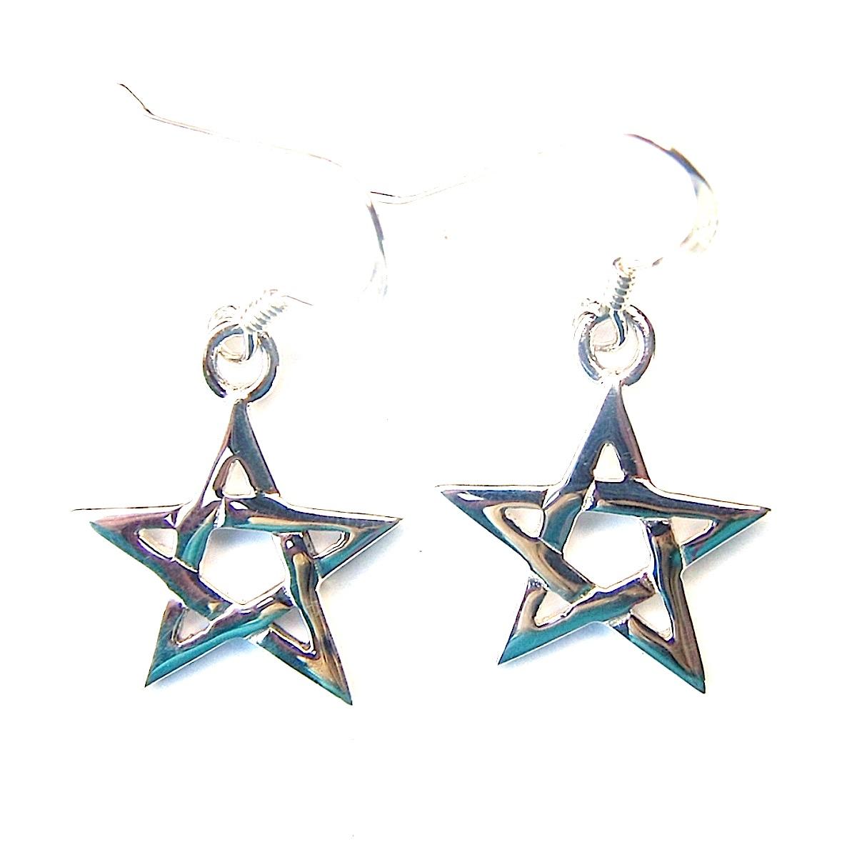 Medium Pentagram Earrings.