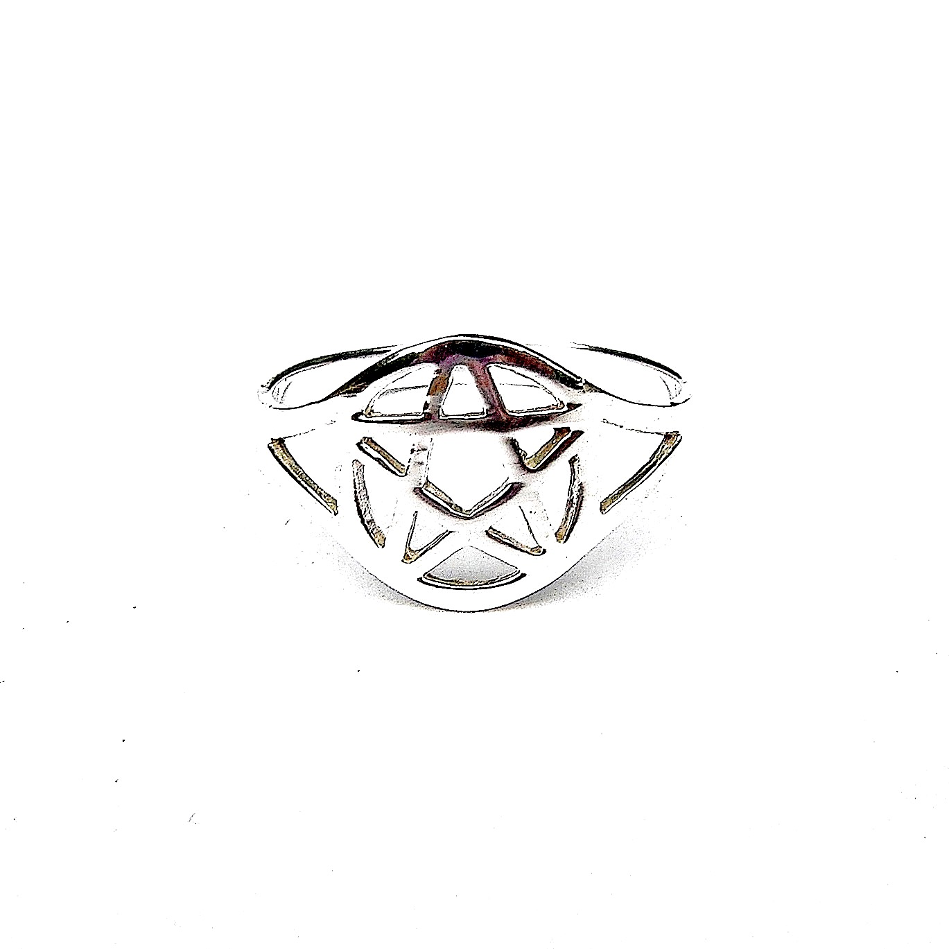 Lovely Silver Pentagram Ring