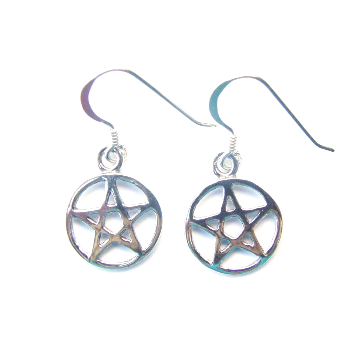 Dainty Pentagram Earrings.