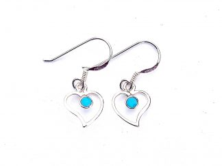 Pretty Dainty Turquoise Heart Earrings