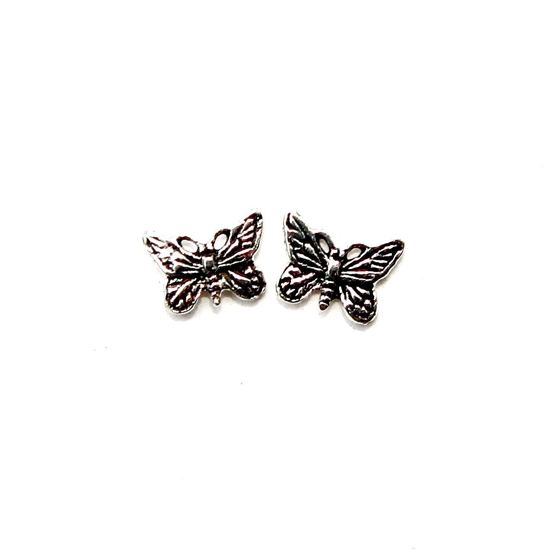 Pretty Silver Butterfly Studs