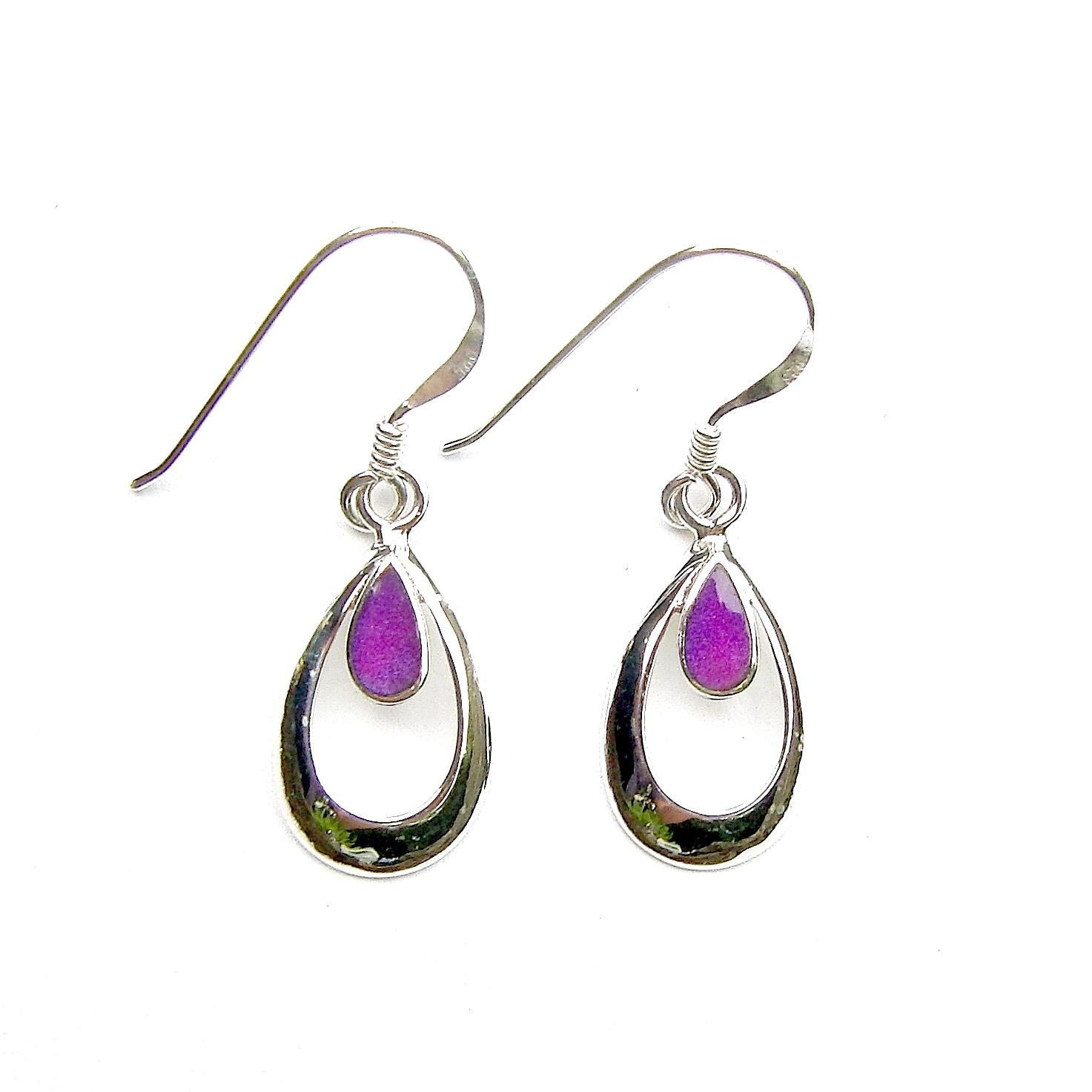 Beautiful Purple Teardrop Earrings
