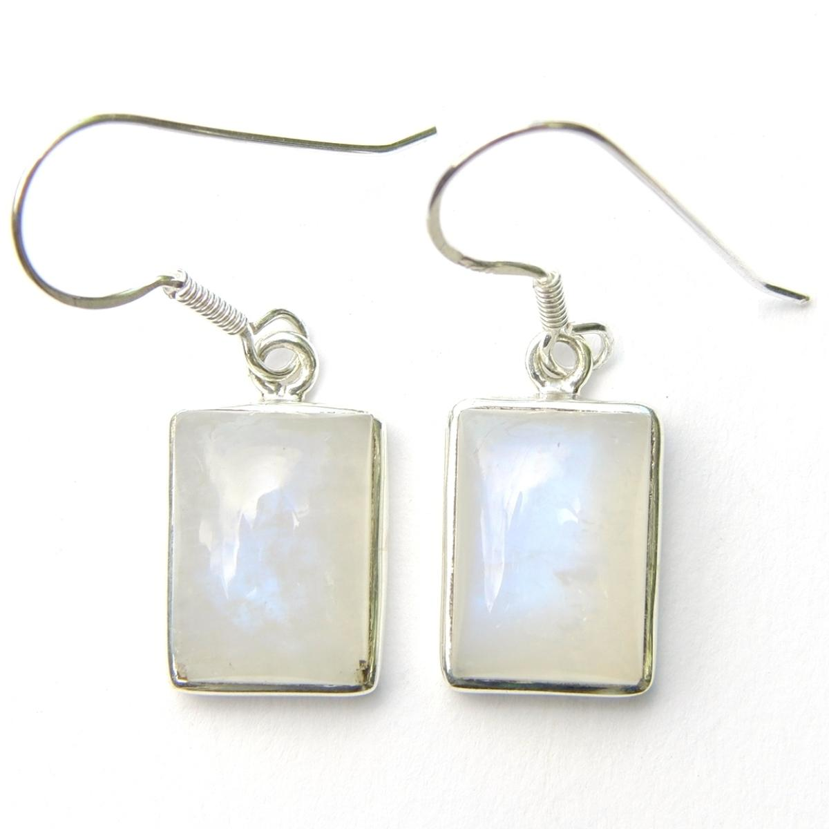 Moonstone Rectangular Earrings