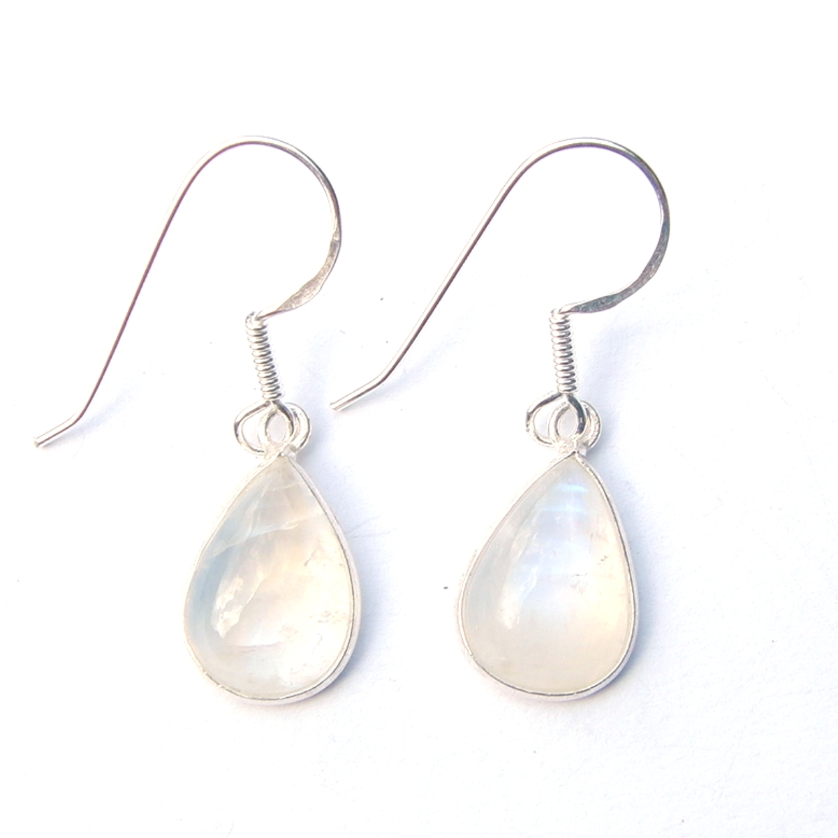 Rainbow Moonstone Large Teardrop Earring
