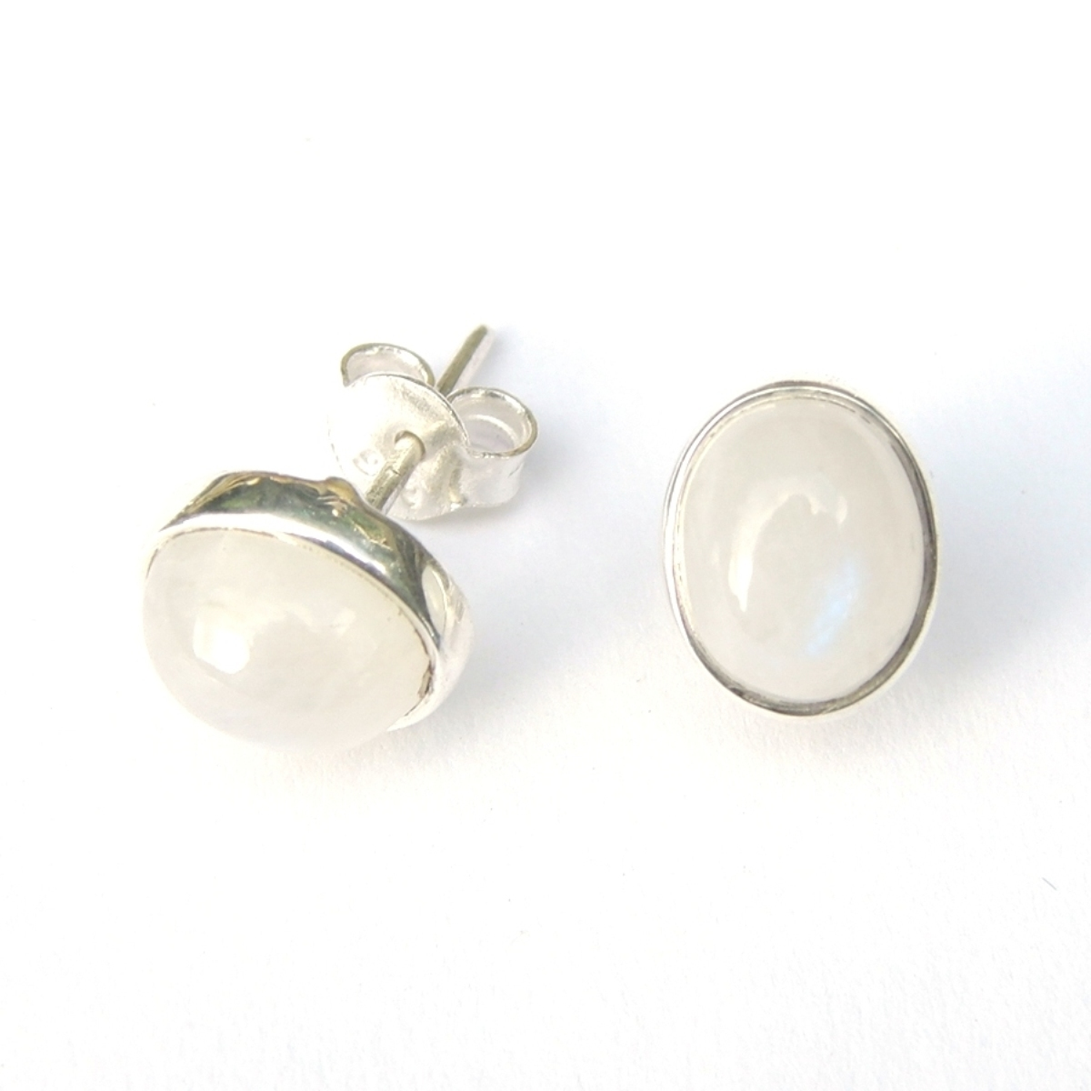 Rainbow Moonstone large Studs