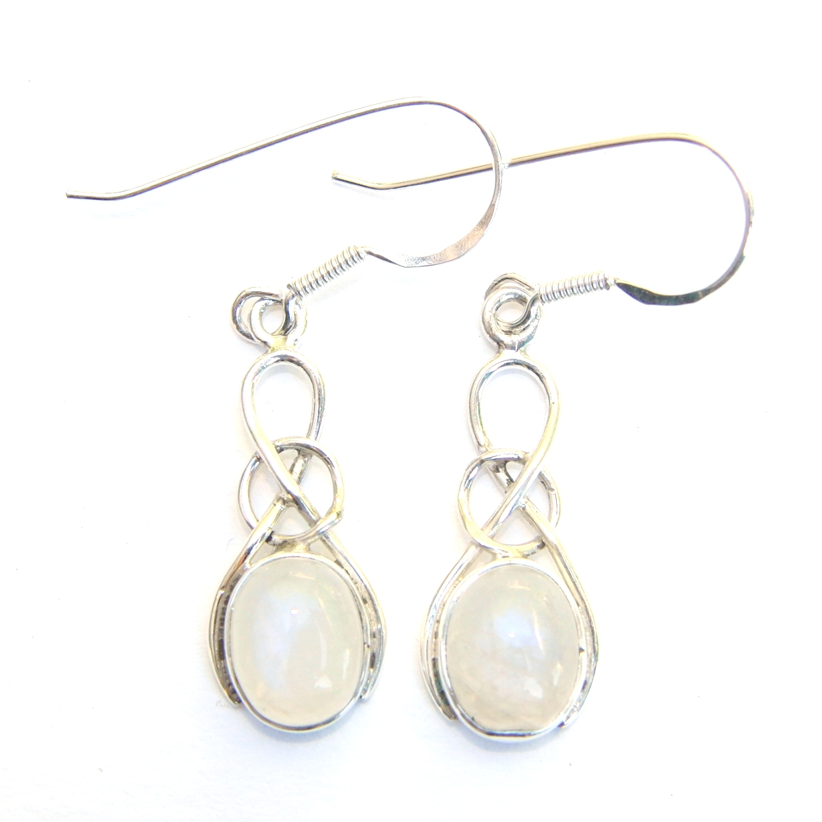 Moonstone Oval Knot Earrings