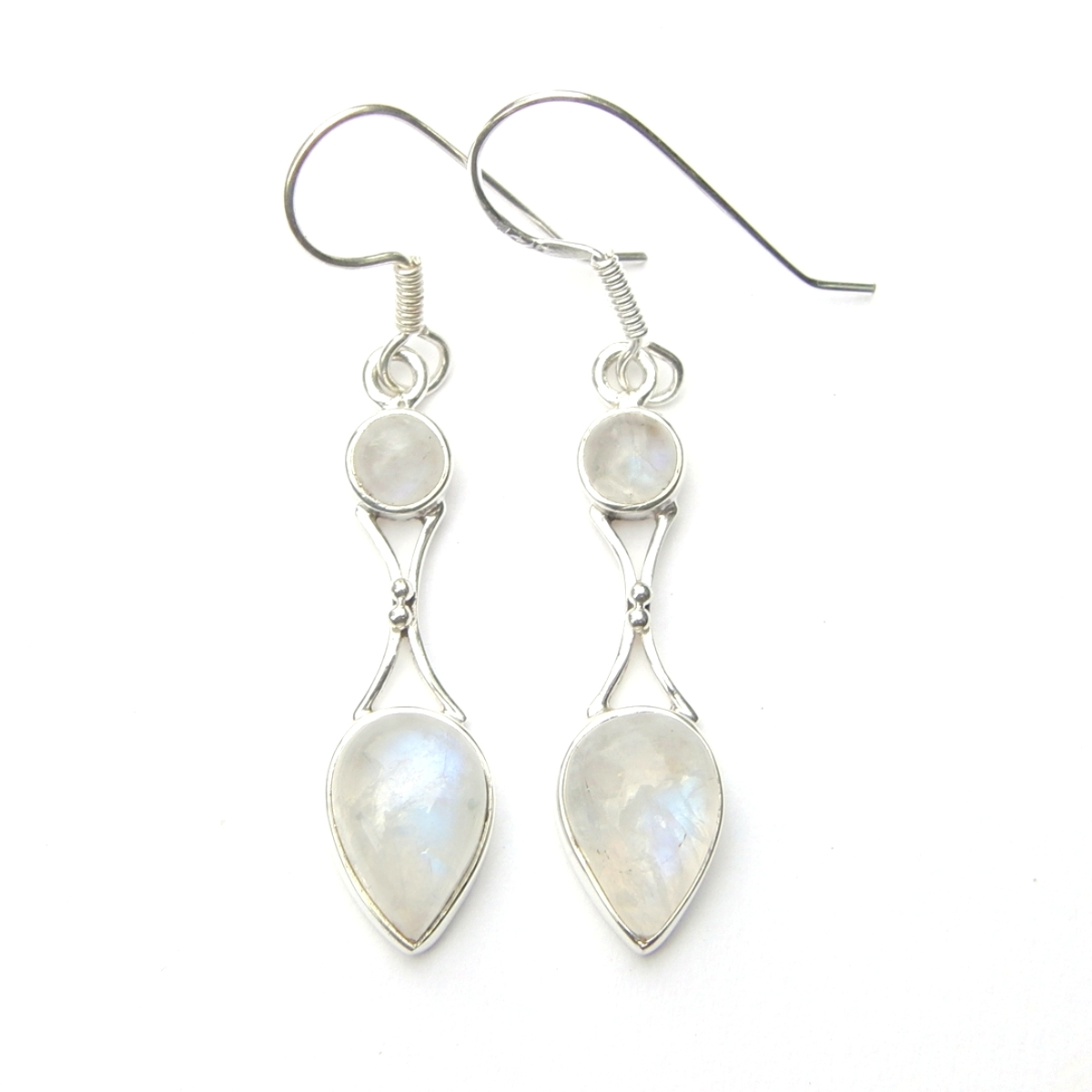 Rainbow Moonstone Goddess Earring