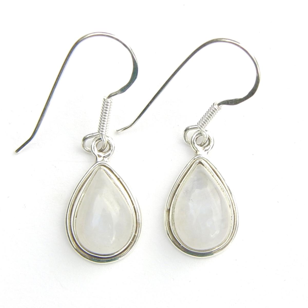 Moonstone Med Teardrop Earrings