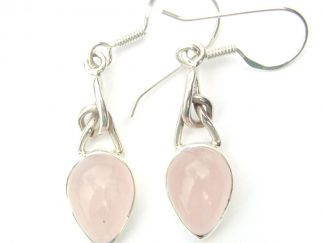 Rose Quartz Knot Earrings