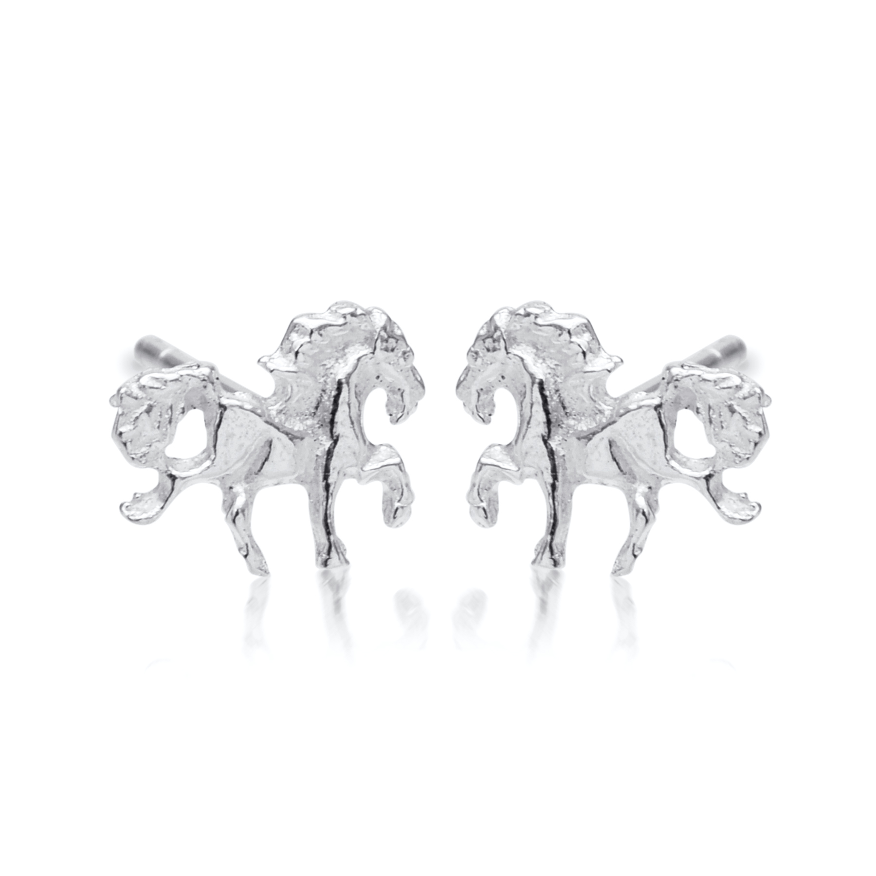 Beautiful Silver Unicorn Studs.