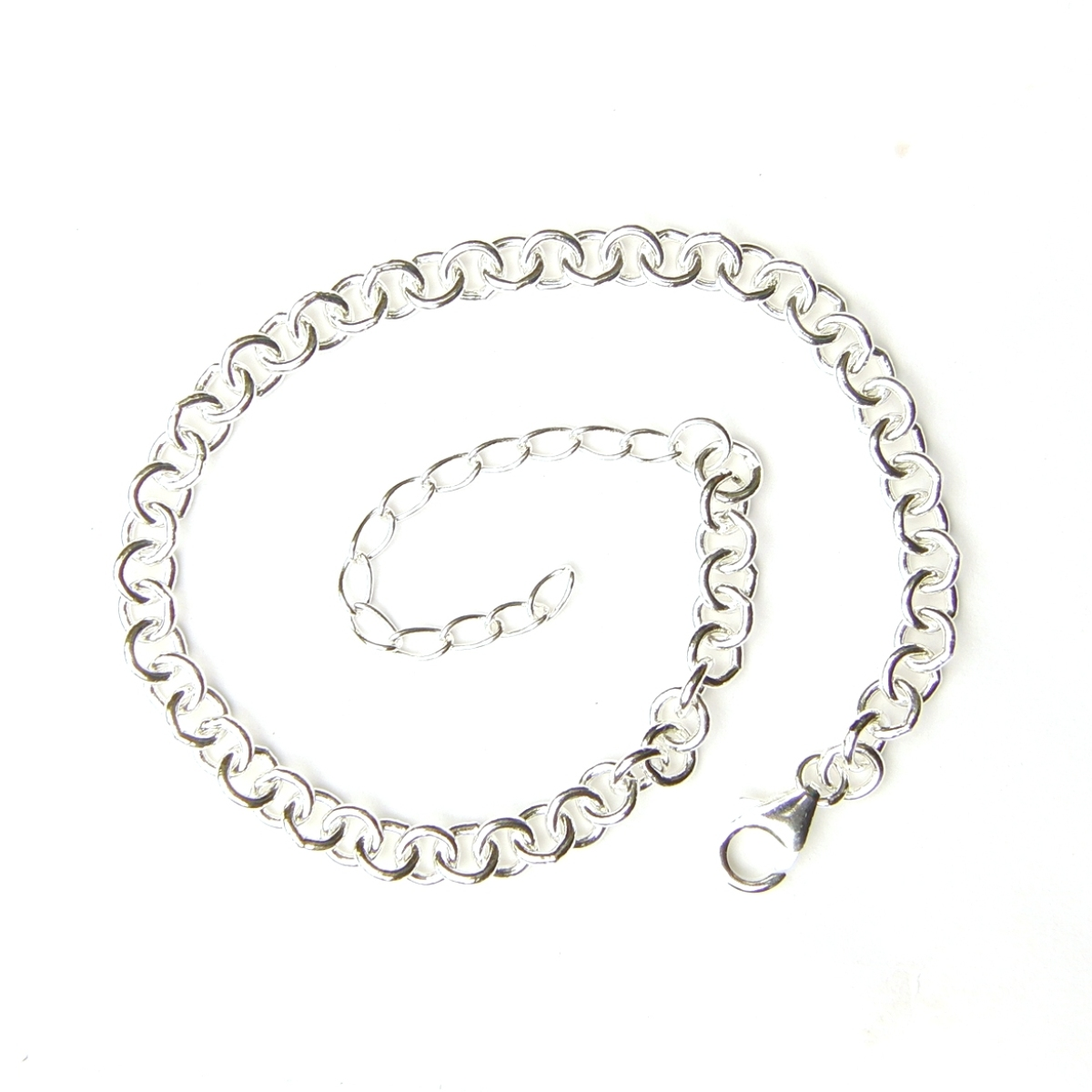 Heavy Weight Silver Charm Bracelet