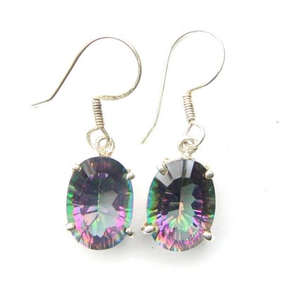 Mystic Topaz Small Oval Earrings.
