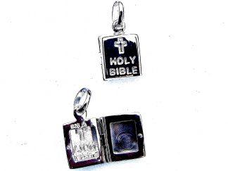 Stunning Holy Bible Opening Locket