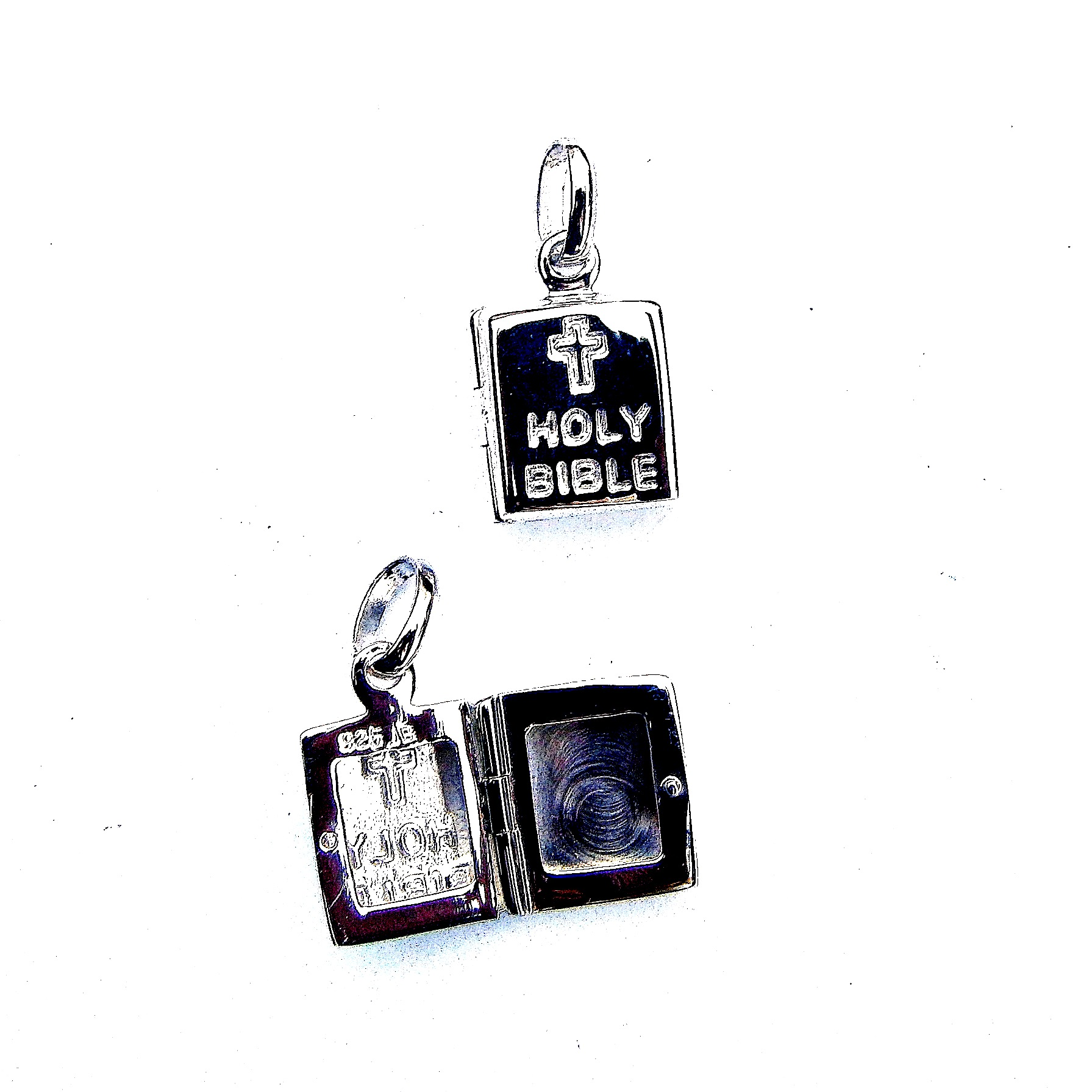 Stunning Holy Bible Opening Locket