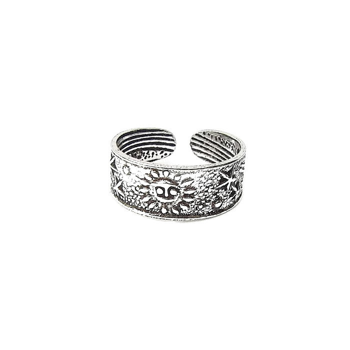 Sun and Stars Silver Toe Ring
