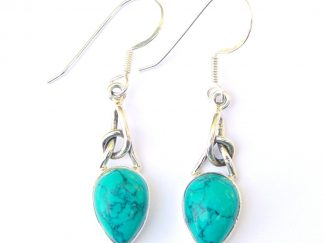 Turquoise Knot Earrings.