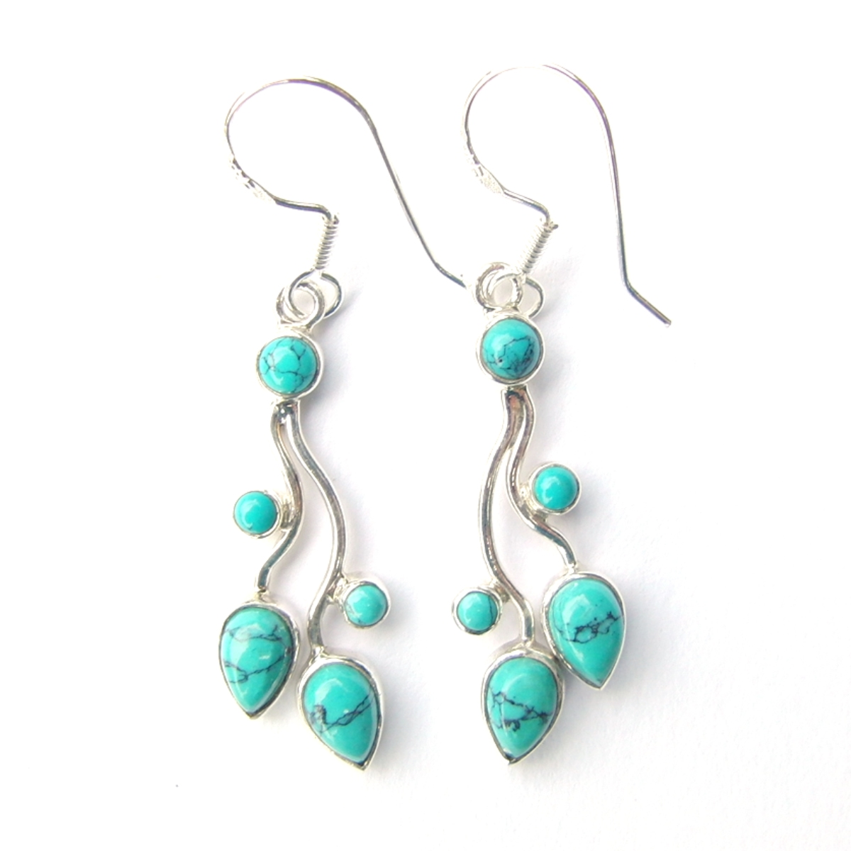 Turquoise Multi Cab Earrings