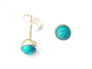 Turquoise Small Round Studs