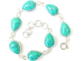 Turquoise Teardrop Bracelet.