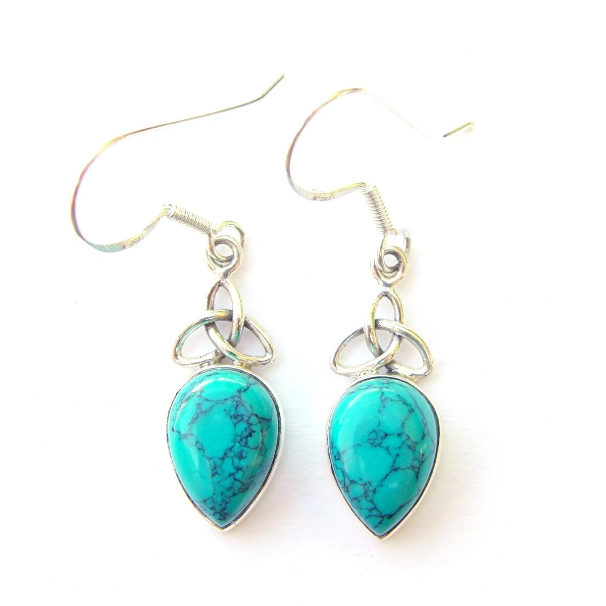 Turquoise Triquetra Earrings