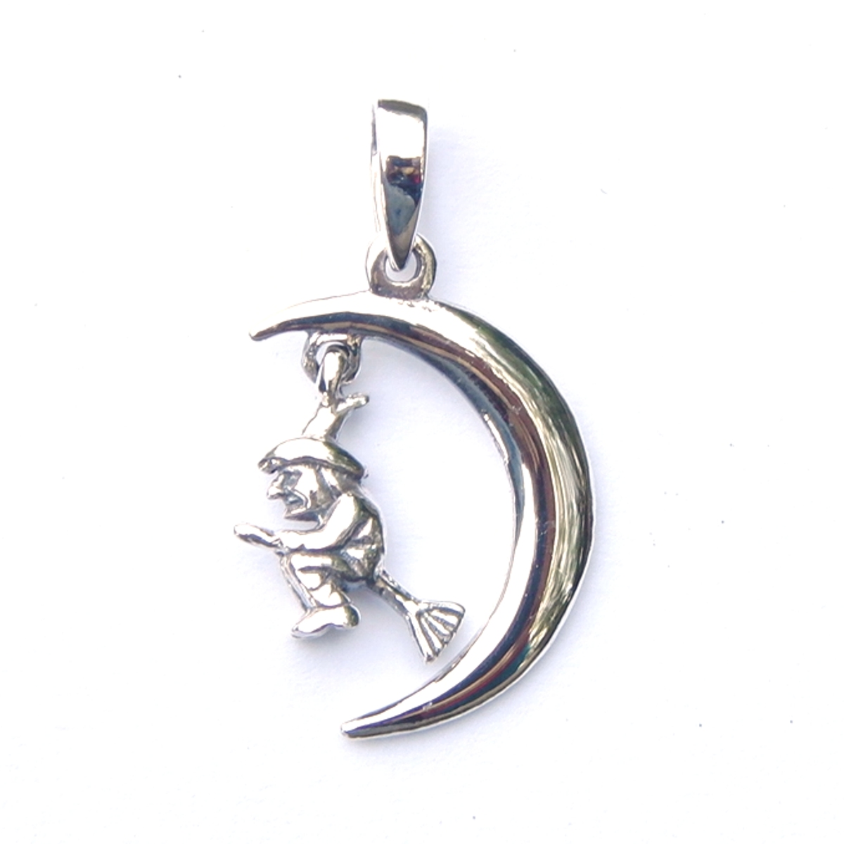 Silver Dainty Witch Pendant.