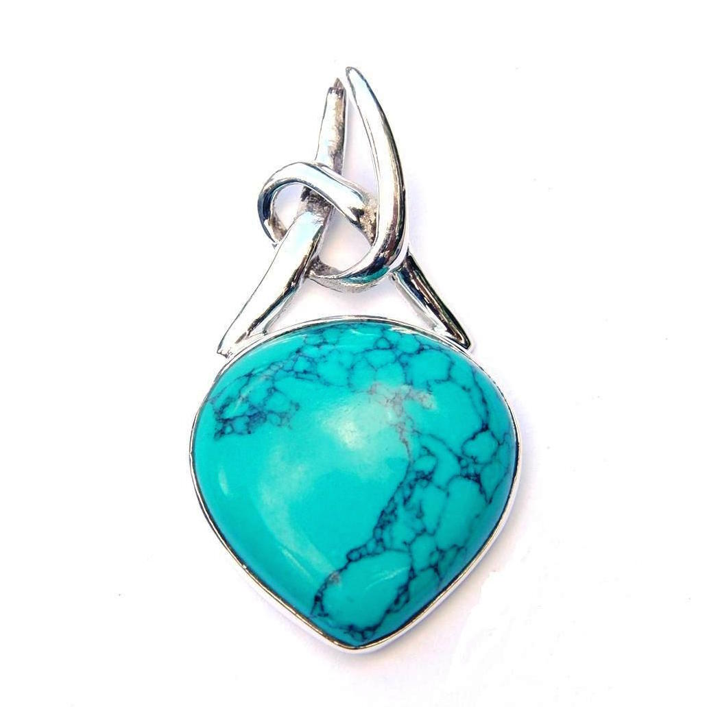 Turquoise Knot Pendant.