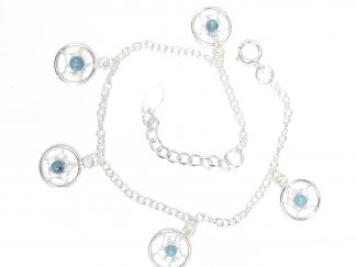 Pretty Dreamcatcher Silver Anklet