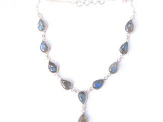 Labradorite Teardrop Necklace.